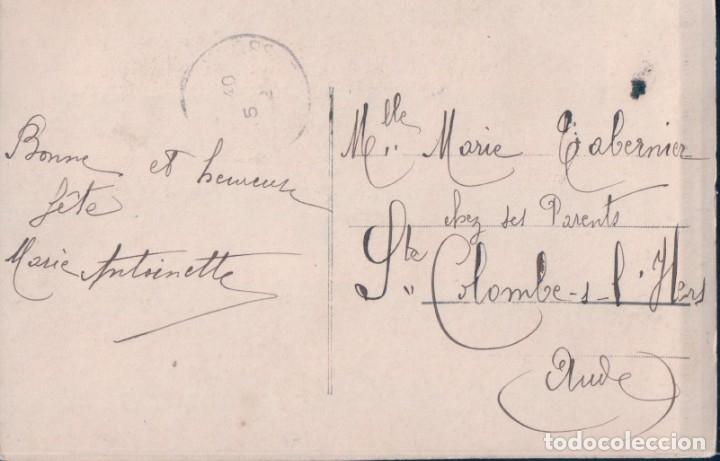 Postales: POSTAL MUJER FELICITANDO AÑO NUEVO - CIRCULADA - Foto 2 - 178900170