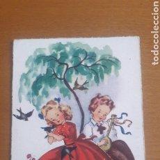Postales: POSTAL ANTIGUA MONTSERRAT PAREJA ENAMORADOS CON FRASE. Lote 179023953