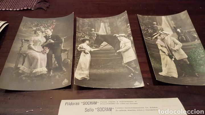 ANTIGUAS POSTALES PÍLDORAS SOCRAM (Postales - Postales Temáticas - Galantes y Mujeres)