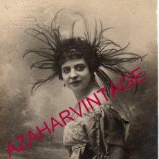 Postales: BADAJOZ, 1920, POSTAL AUTOGRAFIADA DE LA ACTRIZ CARLOTA PLA, FOT.OLIVENZA. Lote 180092035