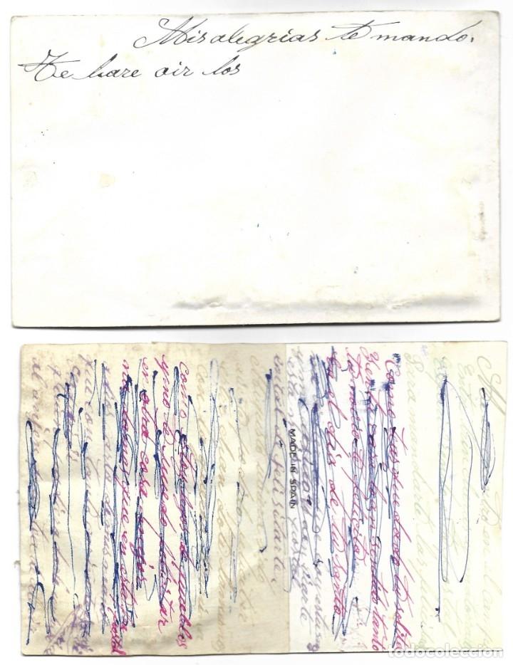Postales: LOTE DOS ANTIGUAS POSTALES GALANTES COLOREADAS Y CON BORDADOS MUY BONITAS - Foto 4 - 180111038