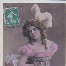 Postales: POSTAL ACTRIZ MARIGNY GRACE NEVINSON - CIRCULADA. Lote 180170190