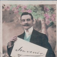 Postales: POSTAL GALANTE HOMBRE - BIGOTE - CIRCULADA . Lote 180229995