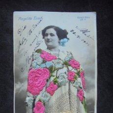 Postales: POSTAL BORDADA 1911 MÁQUINAS COSER SINGER ANGELITA EASO. Lote 182745113