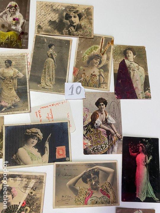 Postales: LOTE DE 30 POSTALES DE CADIZ DE COMIENZOS DE 1900 . MODELOS , ACTRICES , CANTANTES - Foto 2 - 182958956