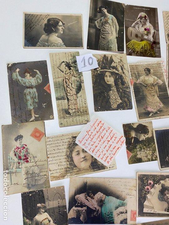 Postales: LOTE DE 30 POSTALES DE CADIZ DE COMIENZOS DE 1900 . MODELOS , ACTRICES , CANTANTES - Foto 3 - 182958956