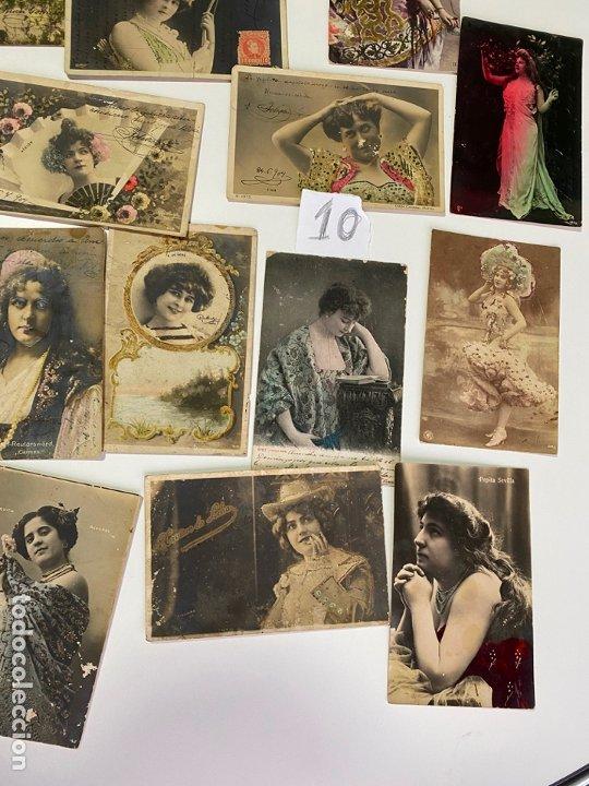 Postales: LOTE DE 30 POSTALES DE CADIZ DE COMIENZOS DE 1900 . MODELOS , ACTRICES , CANTANTES - Foto 4 - 182958956