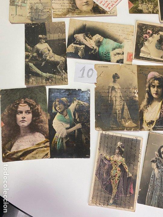 LOTE DE 30 POSTALES DE CADIZ DE COMIENZOS DE 1900 . MODELOS , ACTRICES , CANTANTES (Postales - Postales Temáticas - Galantes y Mujeres)