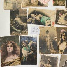 Postales: LOTE DE 30 POSTALES DE CADIZ DE COMIENZOS DE 1900 . MODELOS , ACTRICES , CANTANTES. Lote 182958956