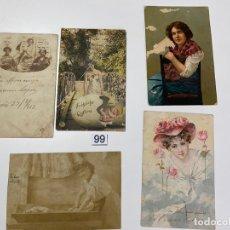 Postales: LOTE DE 5 POSTALES RELACIONADAS CON CADIZ DE COMIENZOS DE 1900 . . Lote 182959627
