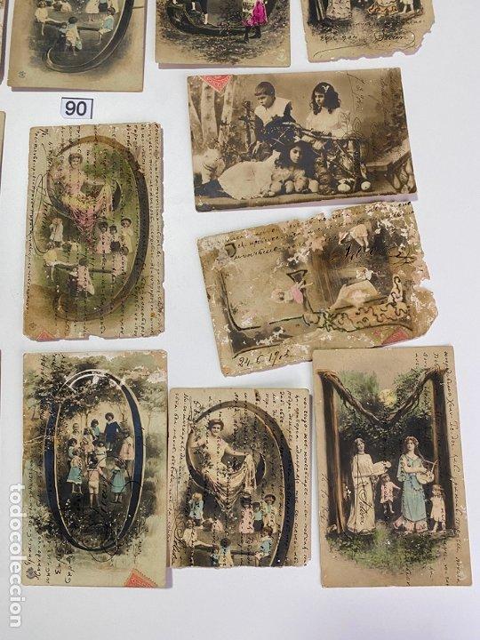 Postales: LOTE DE 19 POSTALES RELACIONADAS CON CADIZ DE COMIENZOS DE 1900 . - Foto 2 - 182960272