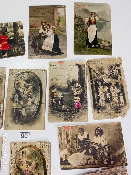 Postales: LOTE DE 19 POSTALES RELACIONADAS CON CADIZ DE COMIENZOS DE 1900 . - Foto 3 - 182960272