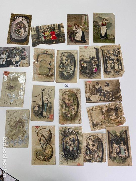 LOTE DE 19 POSTALES RELACIONADAS CON CADIZ DE COMIENZOS DE 1900 . (Postales - Postales Temáticas - Galantes y Mujeres)