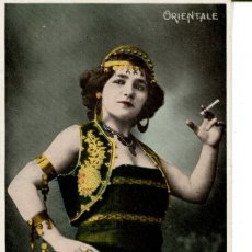 Postales: JOVEN MUJER ORIENTAL FUMANDO -EGYPTO. Lote 183305707