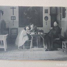 Postales: COLECCIÓN CÁNOVAS QUIEN SUPIERA ESCRIBIR POSTAL ANTIGUA. Lote 183475057