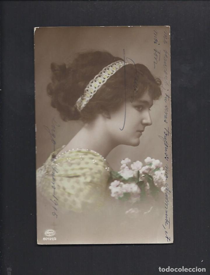ANTIGUA POSTAL JOVEN. CIRCULADA 1915 (Postales - Postales Temáticas - Galantes y Mujeres)