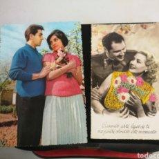 Postales: POSTAL PAREJAS DE ENAMORADOS. Lote 183778298