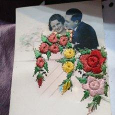 Postales: TARJETA BORDADA Y CIRCULADA 1946. Lote 184293865