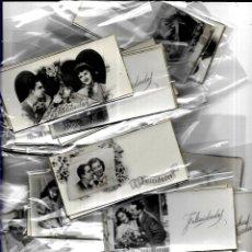 Postales: 100 TARJETAS ANTIGUAS * PAREJAS * ( 11 X 5,50). Lote 186015896