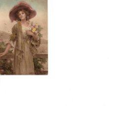 Postais: BELLA DAMA SUMMER FLOWERS CIRCULADA EN 1918. Lote 186058778