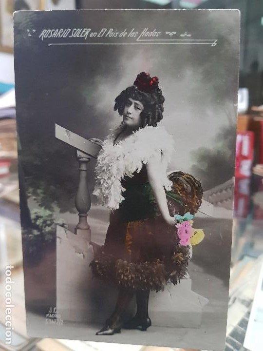 ANTIGUA POSTAL ROMANTICA ACTRIZ CUPLESTISTA ROSARIO SOLER EL PAIS DE LAS HADAS (Postales - Postales Temáticas - Galantes y Mujeres)