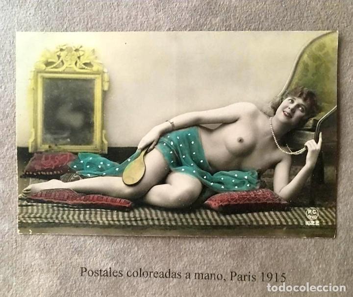 Postales: Lote de tres postales coloreadas a mano Paris 1915 - Foto 2 - 215482417