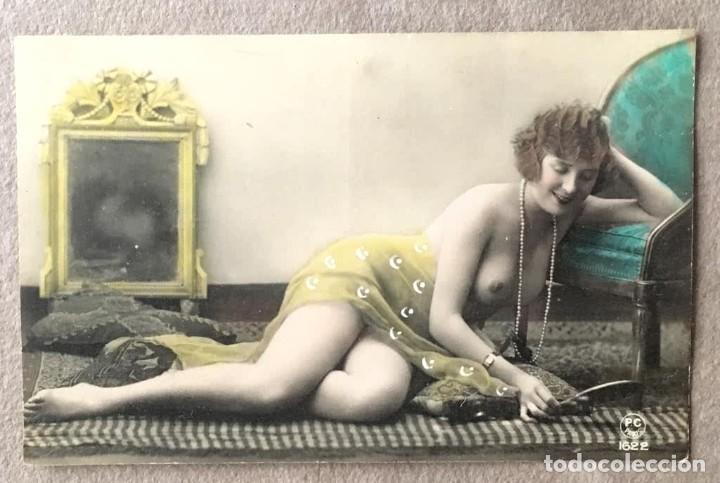 Postales: Lote de tres postales coloreadas a mano Paris 1915 - Foto 3 - 215482417