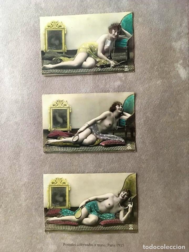 Postales: Lote de tres postales coloreadas a mano Paris 1915 - Foto 4 - 215482417