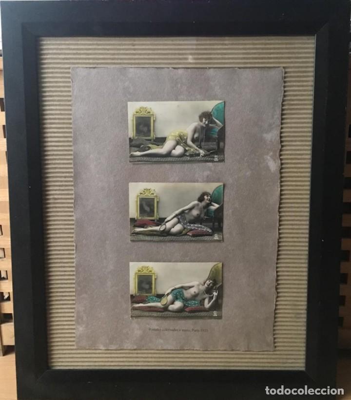 Postales: Lote de tres postales coloreadas a mano Paris 1915 - Foto 5 - 215482417