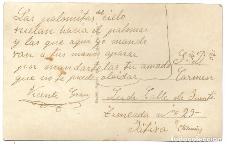 Postales: POSTAL RAPIDE S. 1377 MANUSCRITA SIN CIRCULAR - Foto 2 - 188587467