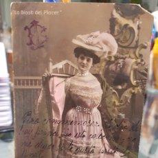 Postales: ANTIGUA POSTAL ROMANTICA ACTRIZ COUPLETISTA ANTONIA CACHAVERA LA DIOSA DEL PLACER. Lote 189987210