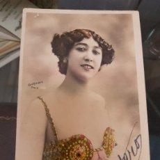Postales: ANTIGUA POSTAL ROMANTICA ACTRIZ COUPLETISTA LA BELLA OTERO. Lote 189988000