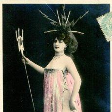 Postales: MUJER ARTISTA-C. DE VILLERS- MODERNISTA-1907. Lote 190753702