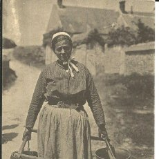 Postales: POSTAL CAMPESINA PORTANDO CUBOS EN BEAUCE (FRANCIA) - EDITA CECODI. Lote 190868206