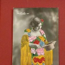 Postales: PRECIOSA POSTAL BORDADA DE LA CUPLETISTA, ARTÍSTA CELIA. Lote 191297178