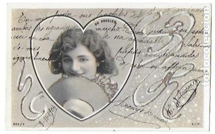 Postales: P-9701. PAREJA DE POSTALES FOTOGRAFICAS CON ILUSTRACION. 1904. - Foto 2 - 191450597