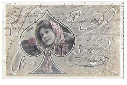 Postales: P-9701. PAREJA DE POSTALES FOTOGRAFICAS CON ILUSTRACION. 1904. - Foto 3 - 191450597