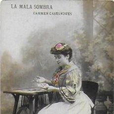 Postales: P-9758. POSTAL FOTOGRAFICA COLOREADA. LA MALA SOMBRA. CARMEN CASESNOVES. PRINCIPIOS S.XX. . Lote 191587413