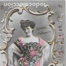 Postales: P-9774. POSTAL FOTOGRAFICA ANTONIA CACHAVERA, CUATRO DE OROS.PRINCIPIOS S.XX. . Lote 191598318