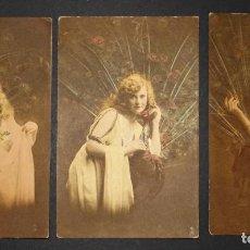 Postales: 3 POSTALES ORIGINALES DE PRINCIPIOS DEL SIGLO XX. VER FOTOS DEL REVERSO. Lote 191730842
