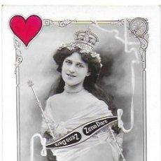 Postales: P-9891. POSTAL FOTOGRAFICA ACTRIZ ZENA DARE. REINA DE CORAZONES. PRINCIPIOS S.XX. . Lote 192118361