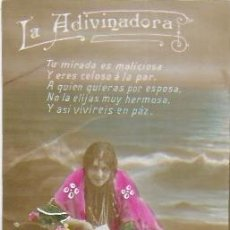 Postales: P-9896. POSTAL LA ADIVINADORA. PRINCIPIOS S .XX. . Lote 192129880