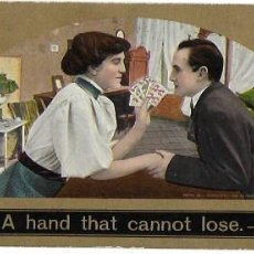 Postales: P-9904. POSTAL ALEMANA. A HAND THAT CANNOT LOSE. AÑO 1910. . Lote 192139248