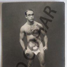 Cartoline: ANTIGUA POSTAL HOMBRE DESNUDO. SIN USO.. Lote 192241867