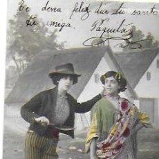 Postales: P-9918. POSTAL FOTOGRAFICA COLOREADA, TIPOS GITANOS. AÑO 1901.. Lote 192411165