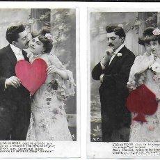 Postales: P-9926. PAREJA DE POSTALES FOTOGRAFICAS FRANCESAS. M.F. . Lote 192432730