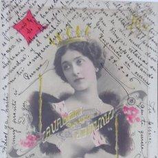 Postales: P-9849. POSTAL SOPRANO Y ACTRIZ LINA CAVALIERI (1874-1944).COLOREADA. CIRCULADA. AÑO 1906. Lote 193013057