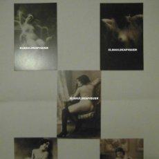 Postales: 5 POSTALES REPRODUCCION FOTO EROTICA MUJER PRINCIPIOS SIGLO XX. DESNUDO FEMENINO. CCTT. Lote 193183325