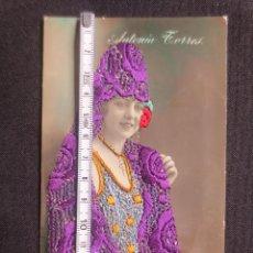 Postales: POSTAL DE LA CUPLETISTA ANTOÑITA TORRES CON MANTILLA BORDADA. Lote 193316678