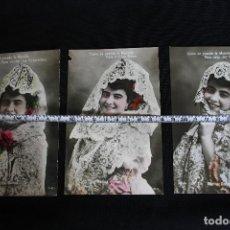 Postales: LOTE DE 3 POSTALES DE LA ARTISTA MARINA GURINA. Lote 193321578